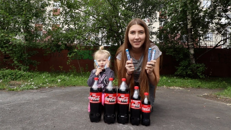 Кока кола и ментос. Кока кола челлендж.