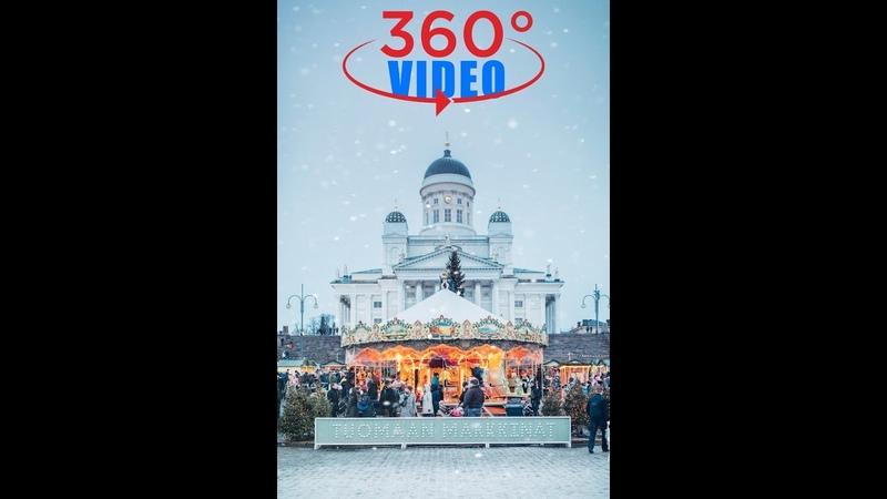 Карусель на Сенатской пл Хельсинки 360° С Новым годом 8K Insta360 Pro