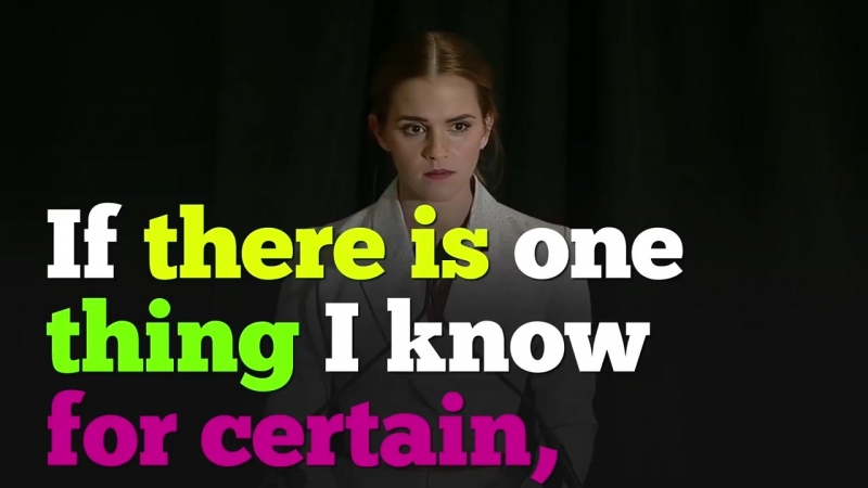 Emma Watson's 2014 Speech on Gender Equality at the HeForShe Campaign (Big English subtitles)