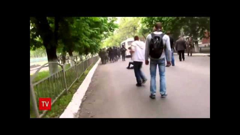 2014.05.11 Krasnoarmeysk Schüsse Sicherheitskräfte