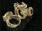 Кольцо Роза. Изготовление ювелирных украшений. 3d моделирование ювелирных украшений. ЧПУ фрезеровка модельного воска. Cutting Wa