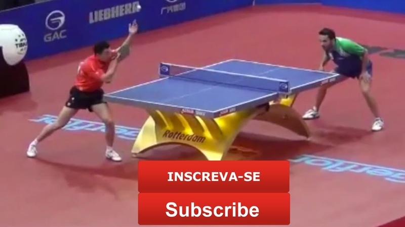 Ma Long disputa até o final para conseguir o ponto Tênis de Mesa STIGA TABLE TENNIS