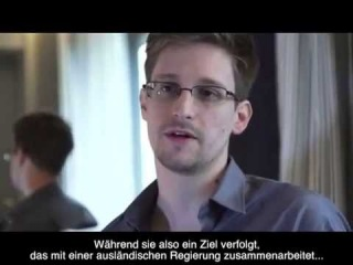 Interview with Edward Snowden about PRISM [German Subs]