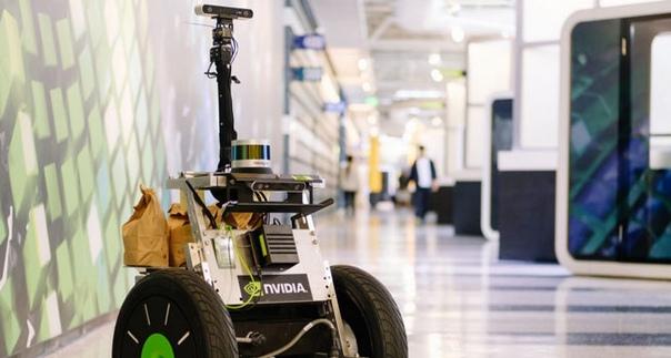 Автопилот NVIDIA научили развозить попкорн сотрудникам компании