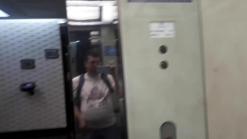 Поднимаемся на лифте на 40 этаж в башне Конфедерации:)