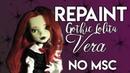 Doll Repaint! OOAK Gothic Lolita Doll- Vera- NO MSC