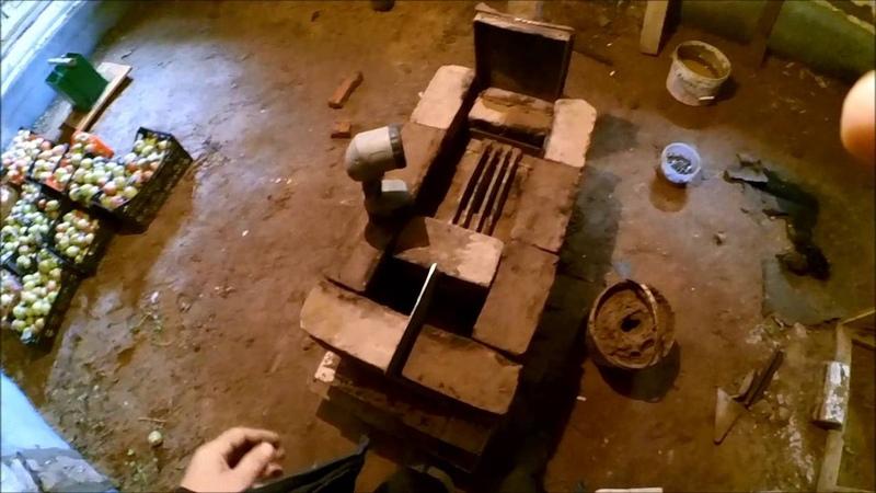 Обогрев курятника Печь своими руками 4 5-6 ряд. Дверца.Опечатка в порядовках.