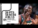 Shawn Kemp 26 pts 18 rebs 4 blks vs Raptors 96/97 season