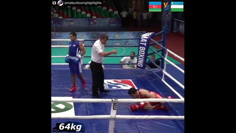 (64кг) Сдвоенный левый от Узбека