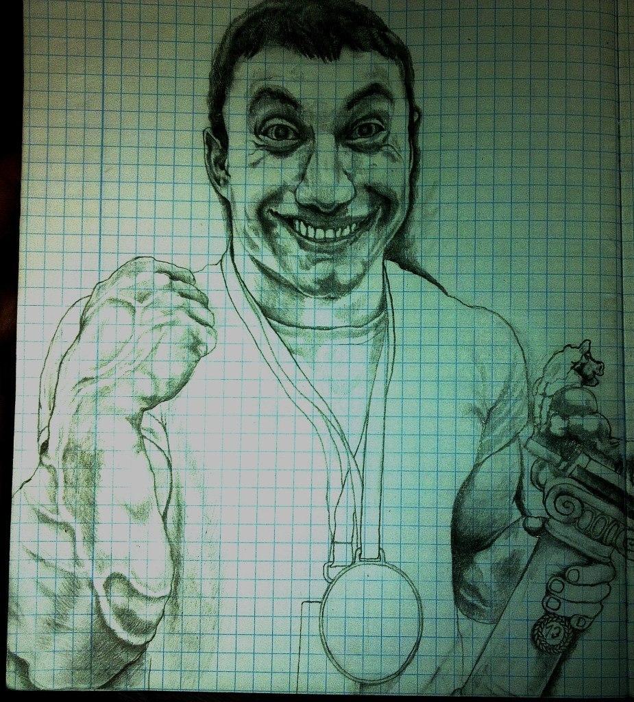 Khadzimurat Zoloev caricature / funny sketch drawing │ Image Source: Khadzhimurat Zoloev
