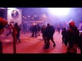 Штурм на Грушевского: Беркут готовится к разгону   Майдан Евромайдан  КИЕВ 19.01.2014