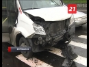 В аварии с маршруткой пострадал ребёнок и водитель
