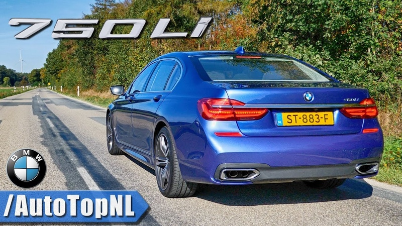 BMW 750Li 4 4 V8 BiTurbo M SPORT EXHAUST Sound Revs TOP SPEED Onboard by AutoTopNL