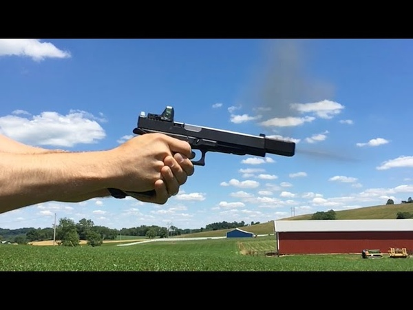 Lone Wolf 10mm Barrel and Alpha Wolf Comp Review for Glock 40 SHOOTING!