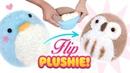 DIY VIRAL REVERSIBLE PLUSHIE Owl Penguin Sock Plush Cute Budget Xmas Gift Ideas