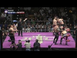 Go Shiozaki, Yuji Hino, Zeus vs. Akitoshi Saito, Katsuhiko Nakajima, Kohei Sato (Kenta Kobashi Produce - Fortune Dream 5)