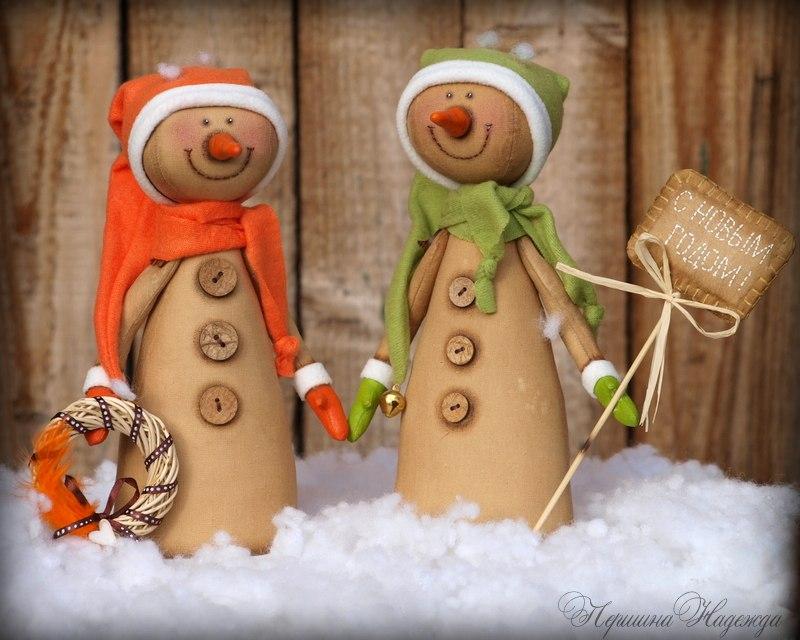 кофейные снеговики
