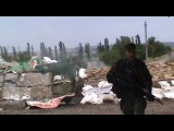 Под Славянском. Как укрармия бросает трупы своих военных прямо на дороге