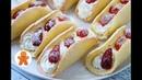 Бисквитные Пирожные с Клубникой ✧ Omelet Cake English Subtitles