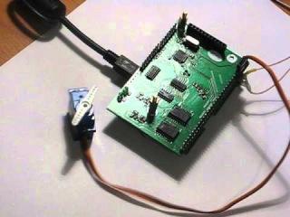 Само дёрганье сервомашинкой по команде от USB ( http://grambo-pi.com).