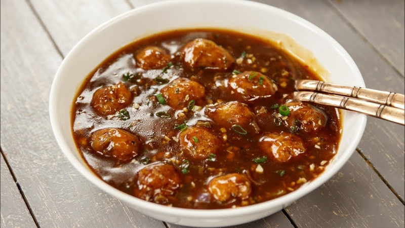 Veg Manchurian Gravy Restaurant Style Vegetable Wet Recipe - CookingShooking