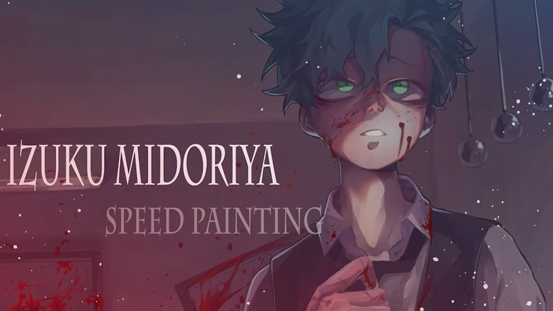 Speed painting BNHA Villain Deku