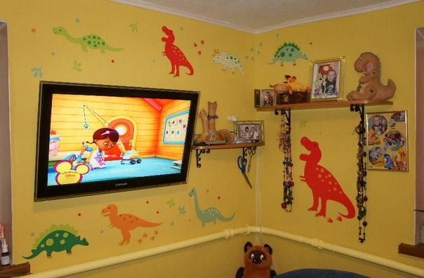 наклейки динозавры на стены фото