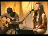 alanis morissette - utopia (acoustic version with lyrics)