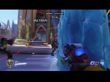 Found a cool trick with Mei countering Baptiste frisbees