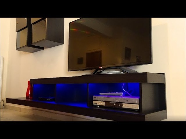 How to build a big tv stand DIY