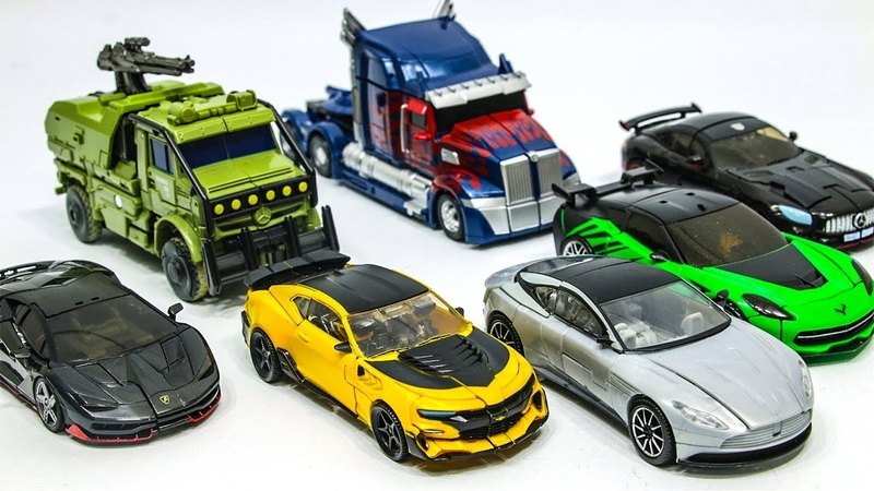 Transformers 5 Autobots Bumblebee Optimus Prime Hound Hotrod Crosshairs Drift Cogman Car Robot Toys