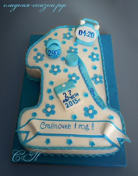 торты на первый день рождения фото
