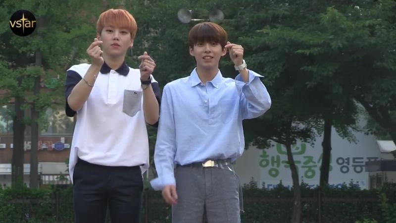 180622 Jinyoung X Hyunsoo @ Arriving at Music Bank