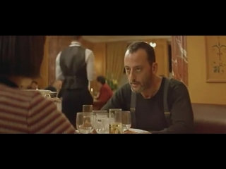 Матильда и Леон в ресторане.