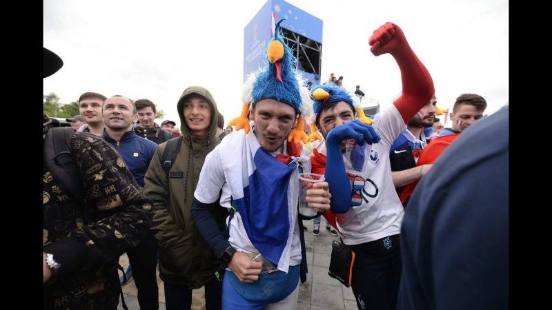 Французы ликуют, перуанцы рыдают гуляем по Екатеринбургу после игры
