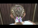 Простые и красивые причёски для девочек за 5 минут. Видео взято с интернета