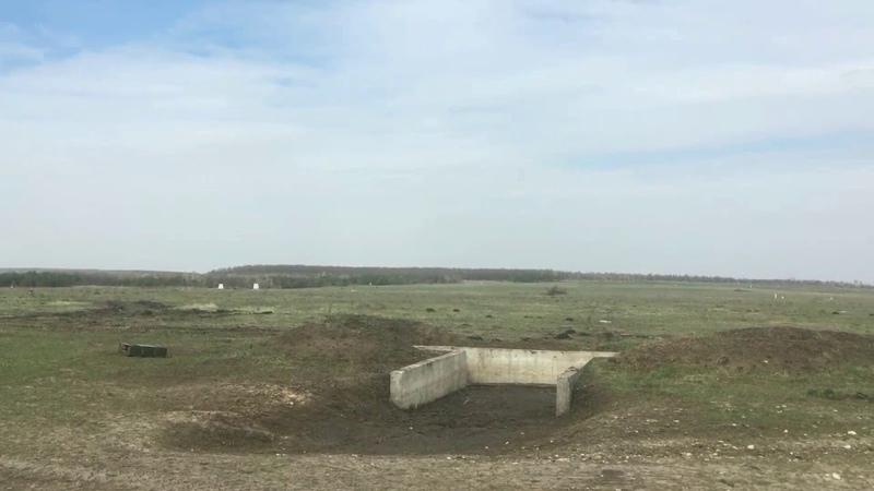 На полигоне артиллеристы соревнуются в стрельбе из гранатометов