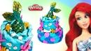 Litle Mermaid Ariel Cake. Play Doh Cake. DIY for Kids