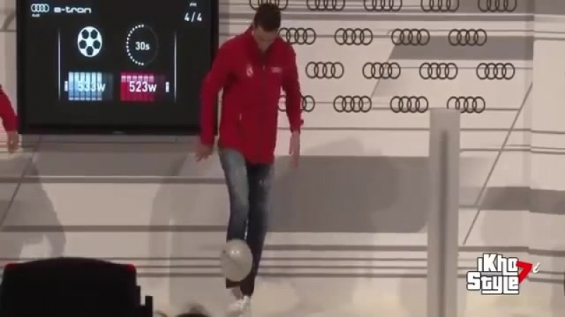 Роналду vs Бензема набивание мяча