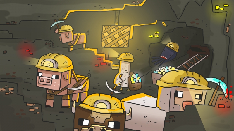 Далбаебы играют в Мини игры В Майнкрафте ( 1 часть )