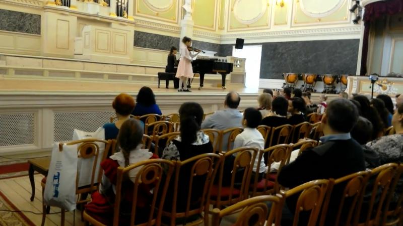 Выступление в Государственной академической капелле Санкт-Петербурга в качестве концертмейстера