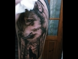 white zombie tattoo - wolf