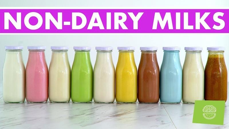 10 Homemade Nut Non-Dairy Milks, Vegan Recipes FREE EBOOK!