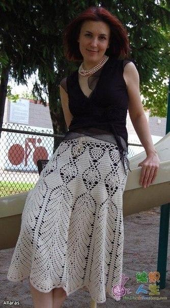Красивая юбка крючком. Схема. (6 фото) - картинка