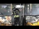 У Чернігові під час руху загорівся пасажирський автобус