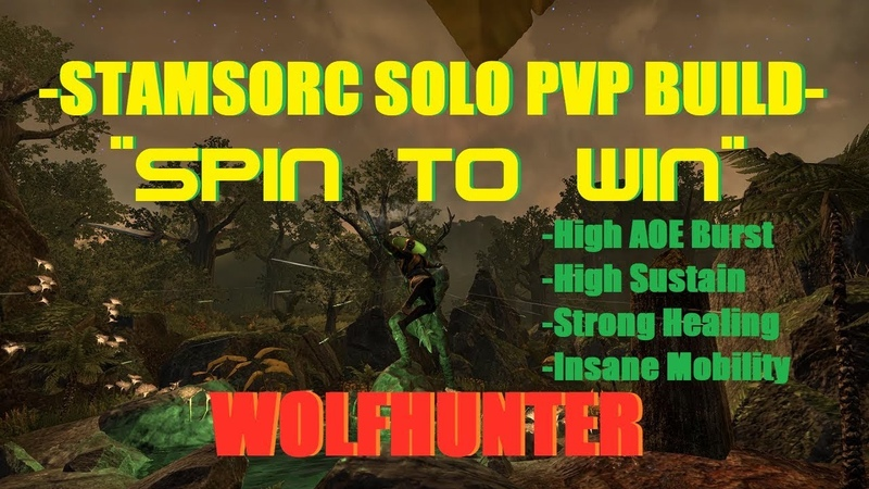 Dual Wield Stamsorc Solo PVP Build - Spin to Win - ESO Wolfhunter
