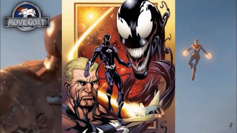Веном и Капитан марвел Venom Captain Marvel