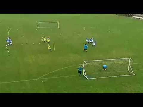 Soccer drills F.C. Internazionale Milan 2 v 1 to goal