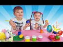Coloring Easter Eggs Learn Colors with Dominika Nursery Rhymes Song for Children