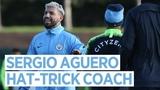 AGUERO THE HAT-TRICK COACH Post Arsenal Training